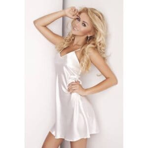 Karen Sexy Slipdress Satijn - Wit